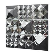 VerPan: Brands - VerPan - Mirror Sculpture Pyramid / Wall Decoration