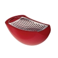 Alessi: Categories - Accessories - Parmenide Grater with Cheese Cellar