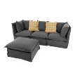 Gervasoni: Categories - Furniture - Ghost Sofa + Ottoman