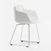MDF Italia: Brands - MDF Italia - Flow Armchair with skid legs mat