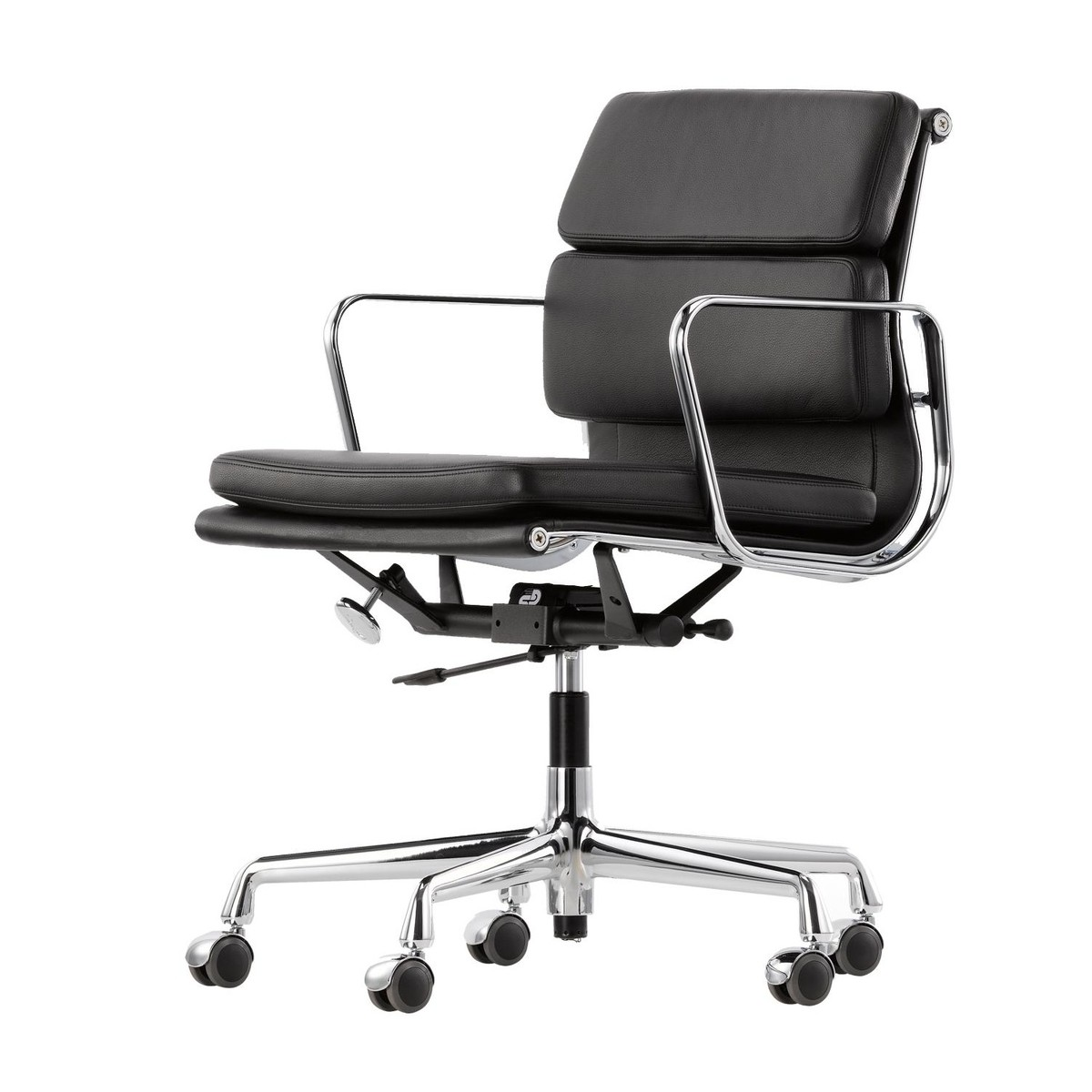 Ea 217 soft pad eames alu chair office chair vitra ambientedirect com