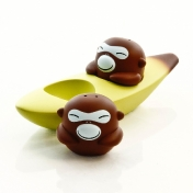 Alessi: Categories - Accessories - Banana Bros Set: Salt and Pepper