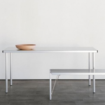 Aluminium - Table 160x80cm