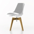 MDF Italia: Brands - MDF Italia - Flow Chair with oaken legs