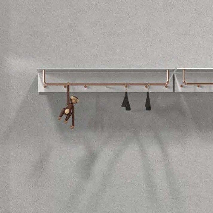 unu wandgarderobe mit haken stange frost. Black Bedroom Furniture Sets. Home Design Ideas