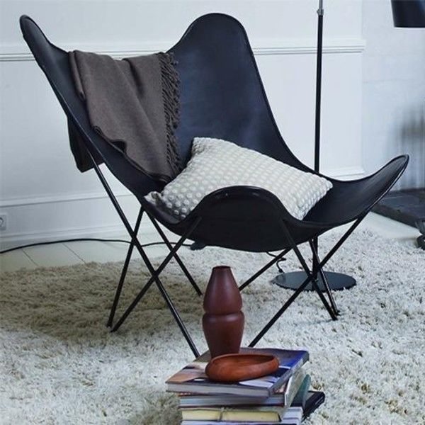 leather mariposa butterfly chair sessel cuero. Black Bedroom Furniture Sets. Home Design Ideas