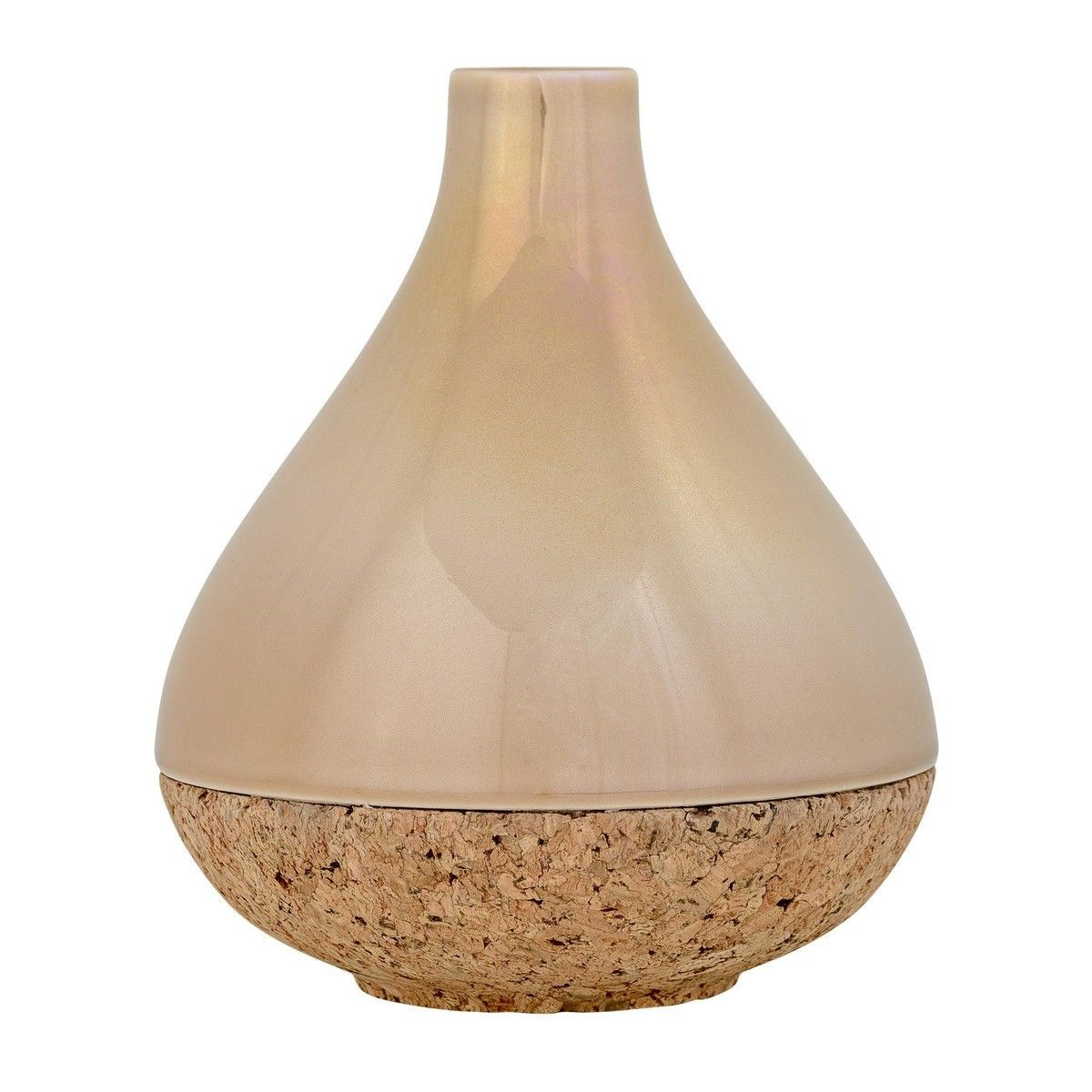 bloomingville stoneware vase with cork bloomingville. Black Bedroom Furniture Sets. Home Design Ideas