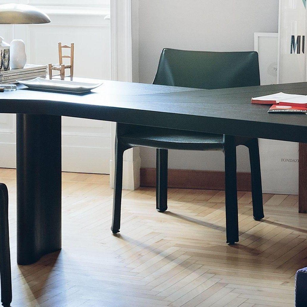 cab mario bellini kernleder armlehnstuhl cassina. Black Bedroom Furniture Sets. Home Design Ideas