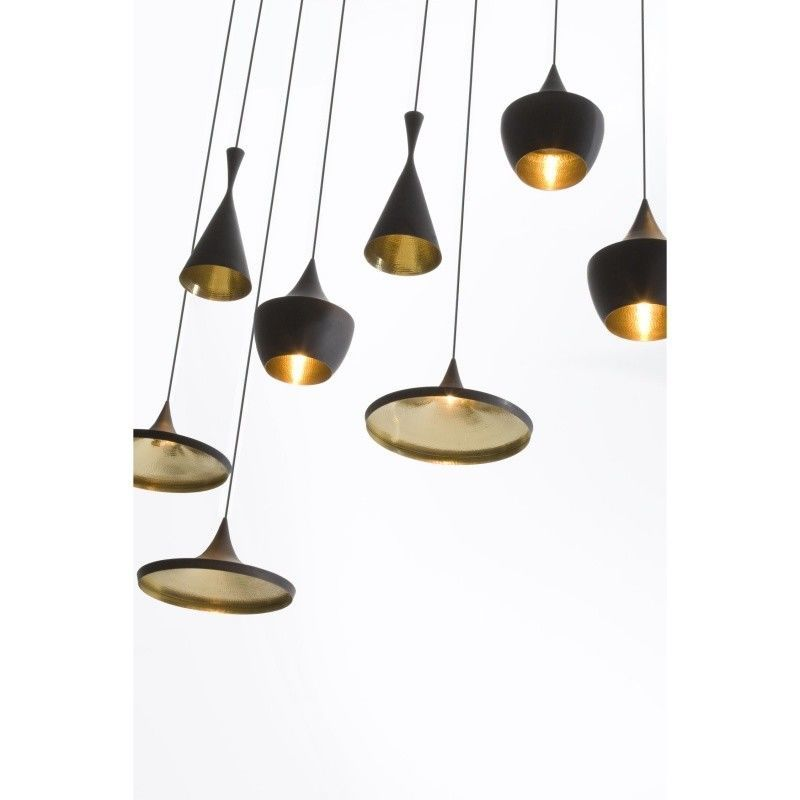 Beat fat suspension lamp tom dixon for Suspension 4 lampes