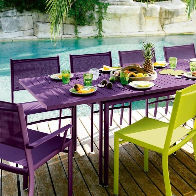 costa chaises de jardin avec accoudoirs fermob. Black Bedroom Furniture Sets. Home Design Ideas
