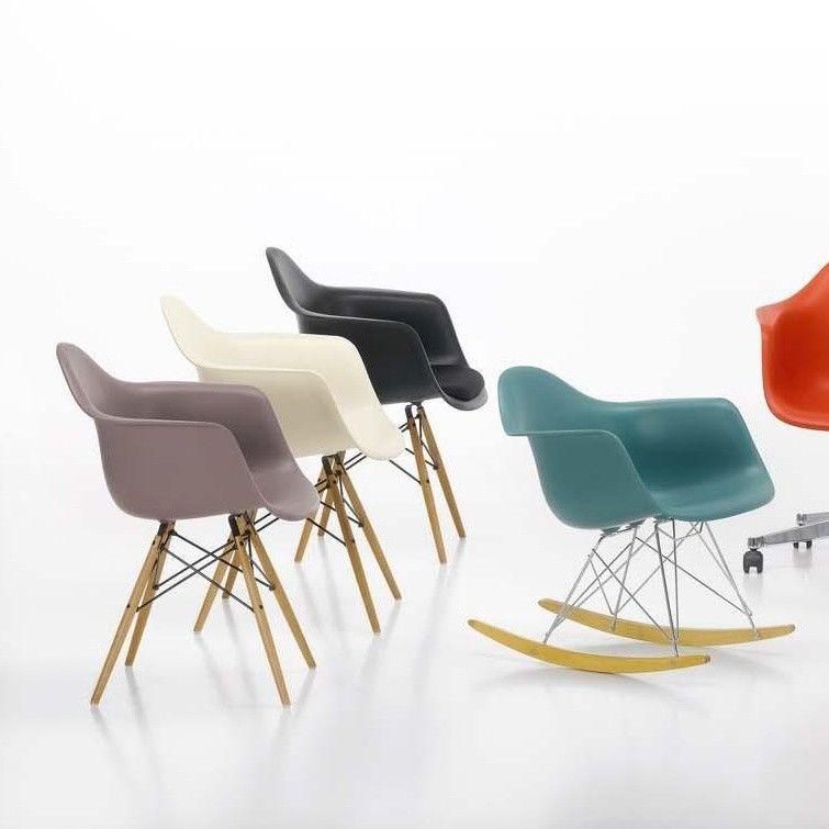 Eames plastic armchair rar fauteuil bascule vitra - Fauteuil a bascule eames ...