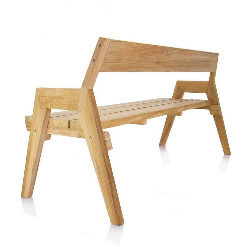 Strong banco de jard n de madera teca jan kurtz for Banco madera jardin