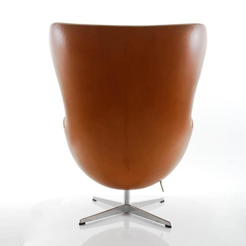 egg chair das ei loungesessel leder fritz hansen. Black Bedroom Furniture Sets. Home Design Ideas