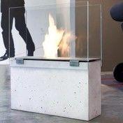 Conmoto - Muro Feuerstelle - grau/transparent/H58cm