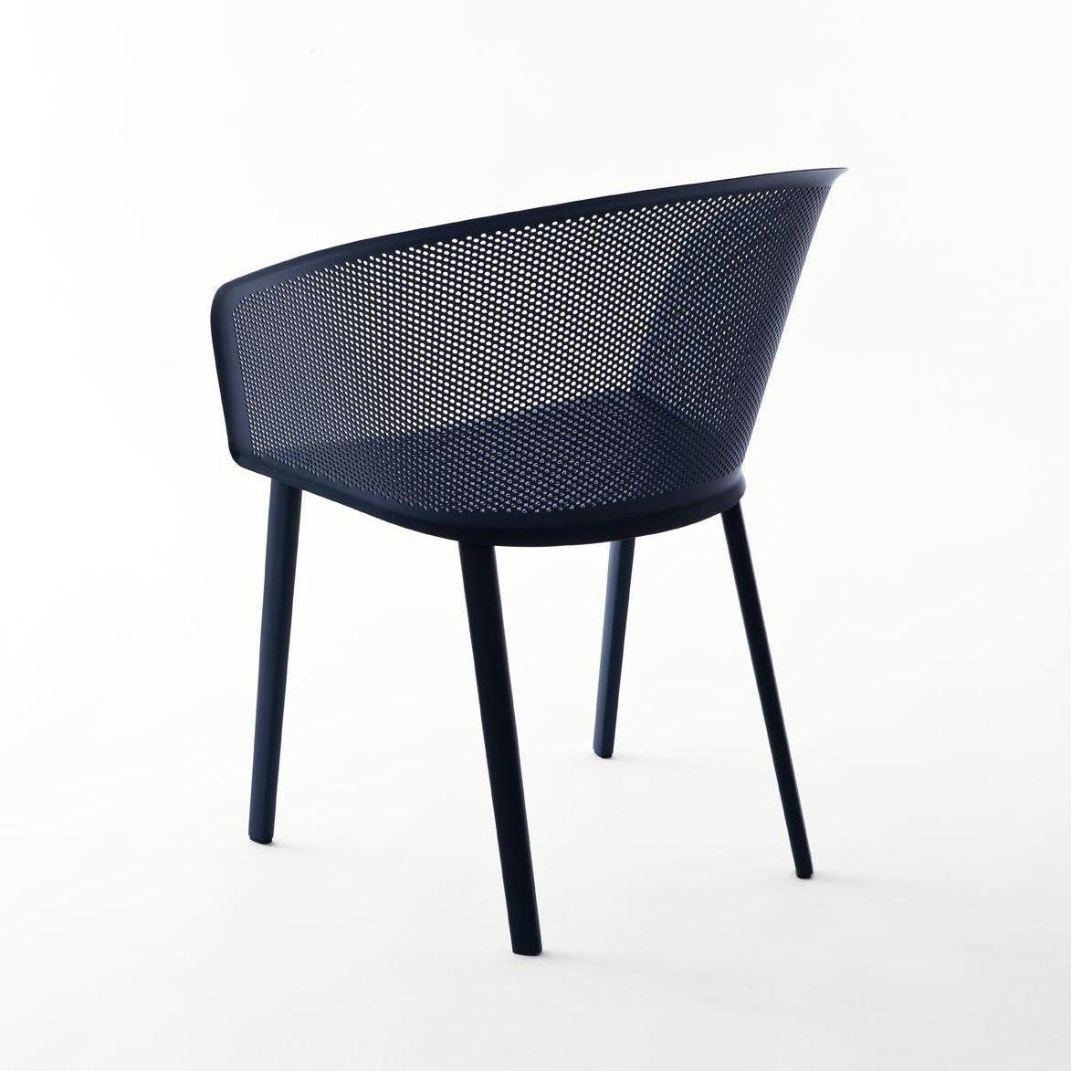 Stampa chaise de jardin avec accoudoirs kettal - Coussin de chaise avec dossier ...