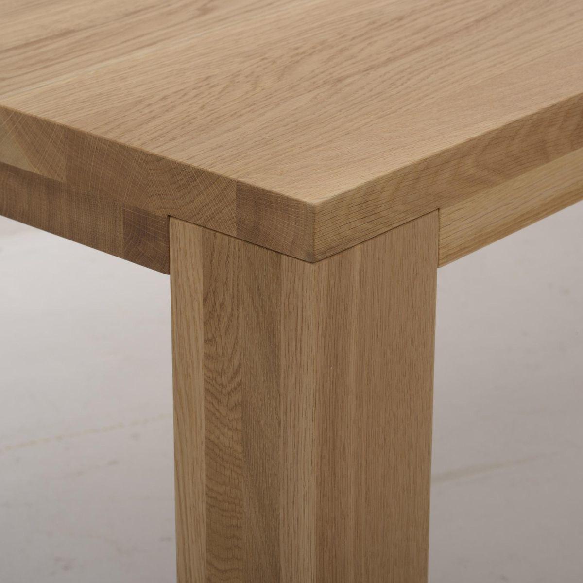 Loft mesa de comedor de madera maciza adwood for Mesas de comedor de madera maciza