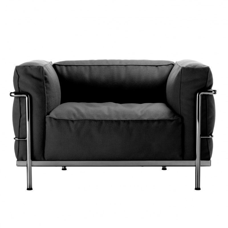 le corbusier lc3 outdoor fauteuil cassina. Black Bedroom Furniture Sets. Home Design Ideas