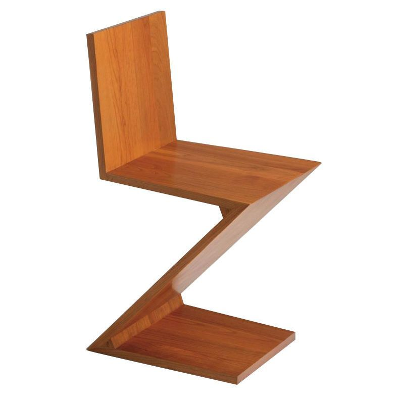 Zigzag rietveld chair cassina for Chaise zig zag
