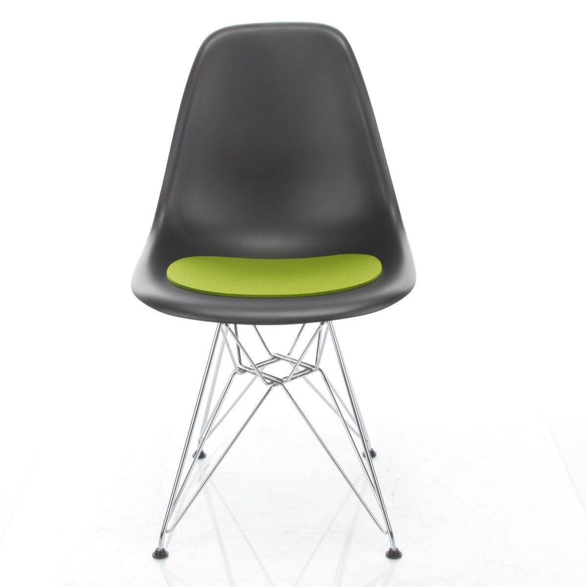 eames plastic chair dsr gestell schwarz h43cm vitra. Black Bedroom Furniture Sets. Home Design Ideas