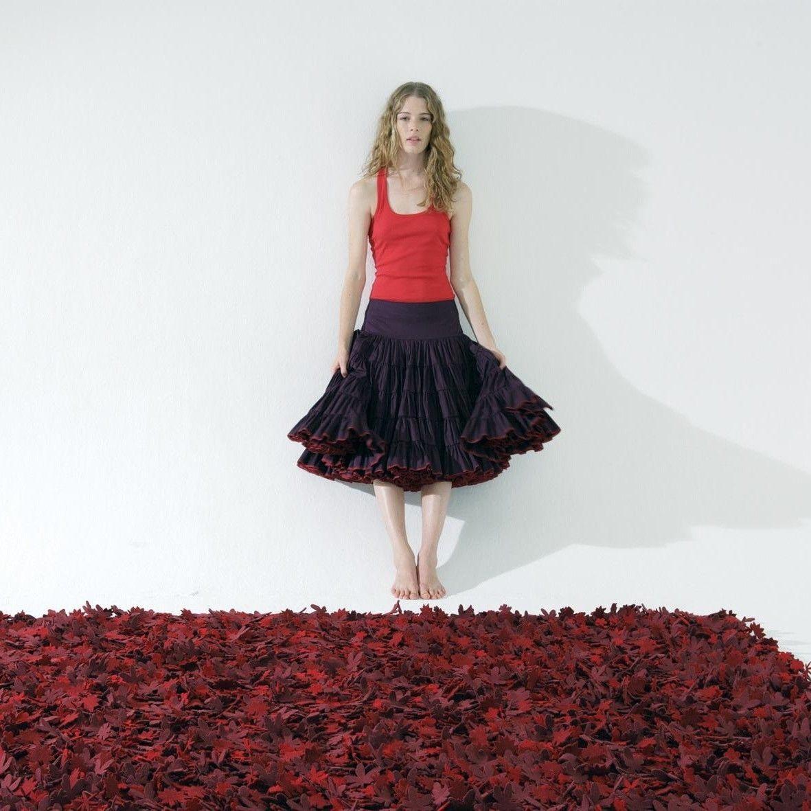 Little Field Of Flowers Felt Carpet Nanimarquina