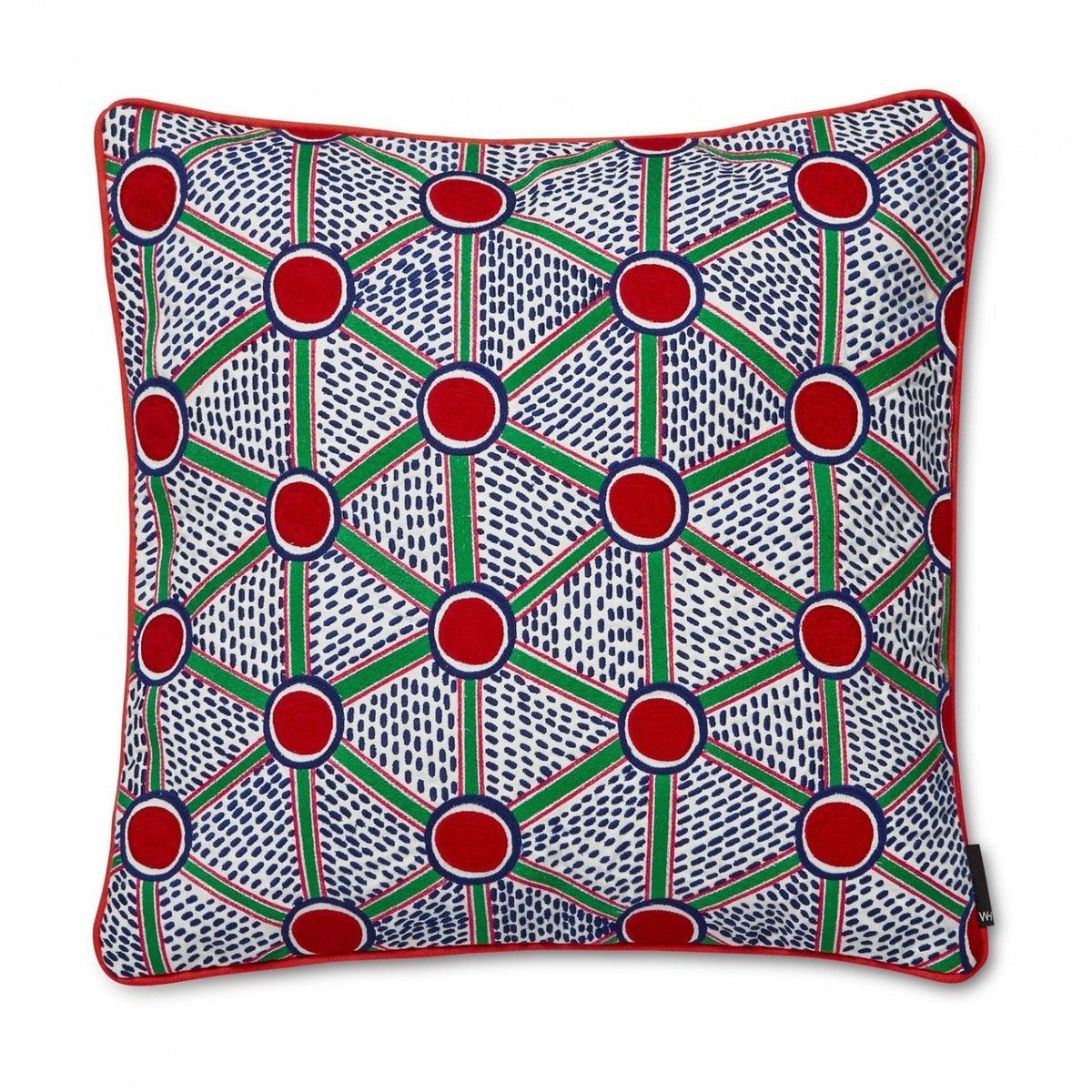 embroidered cushion coussin hay. Black Bedroom Furniture Sets. Home Design Ideas