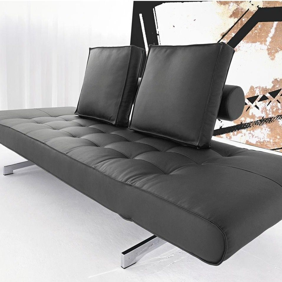 Ghia artificial leather sofa bed innovation for Futon sofa cama plegable