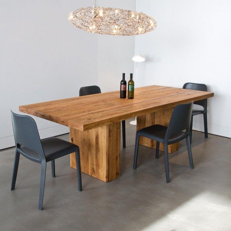 Ozelot mesa de comedor de madera maciza adwood - Mesa de madera maciza ...