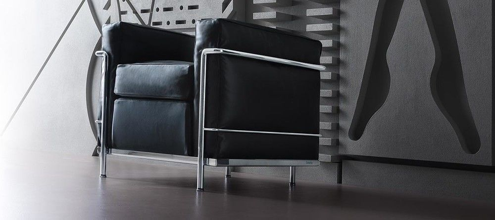 cassina lc le corbusier sessel sofa und tisch. Black Bedroom Furniture Sets. Home Design Ideas
