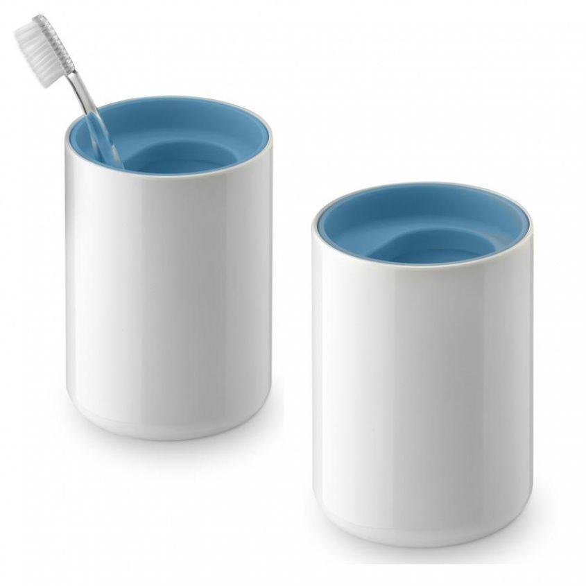 Lunar set de 2 gobelets pour brosse dents authentics - Brosse a dent bleu blanc rouge ...