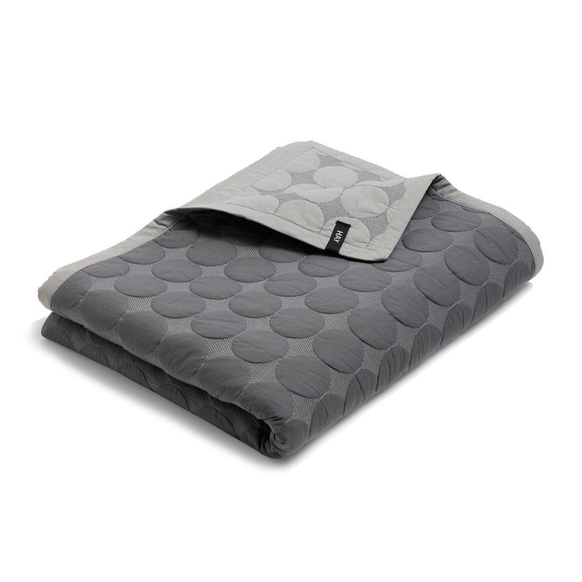 hay mega dot quilt tagesdecke dunkelgrau 235x245cm. Black Bedroom Furniture Sets. Home Design Ideas