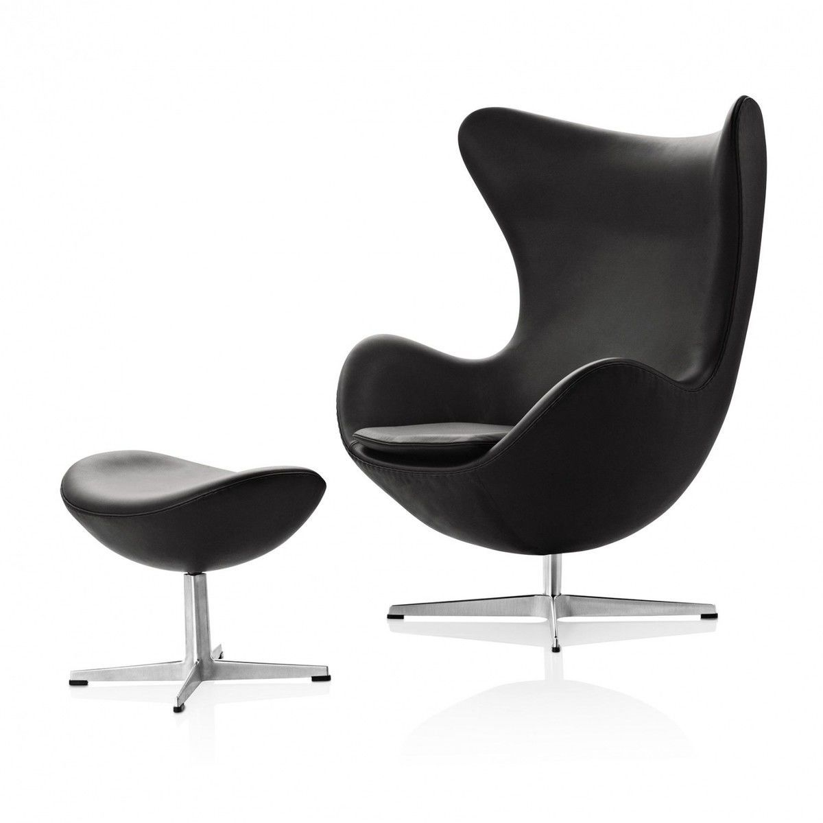 egg chair das ei loungesessel leder fritz hansen. Black Bedroom Furniture Sets. Home Design Ideas