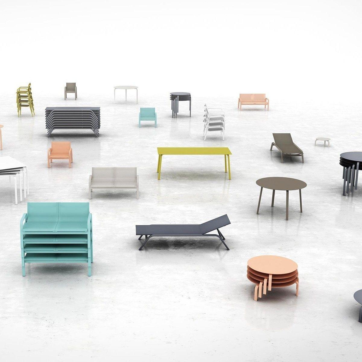 Stack garden furniture set gandia blasco for Chaise candie life
