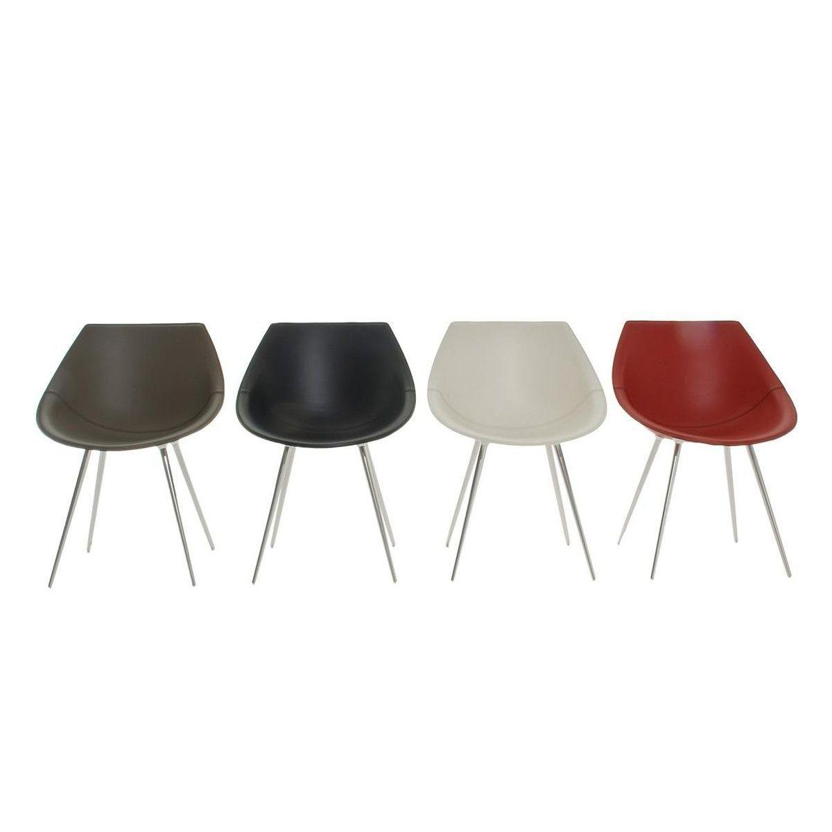 Lag silla con tapizado de cuero driade - Tapizado de silla ...