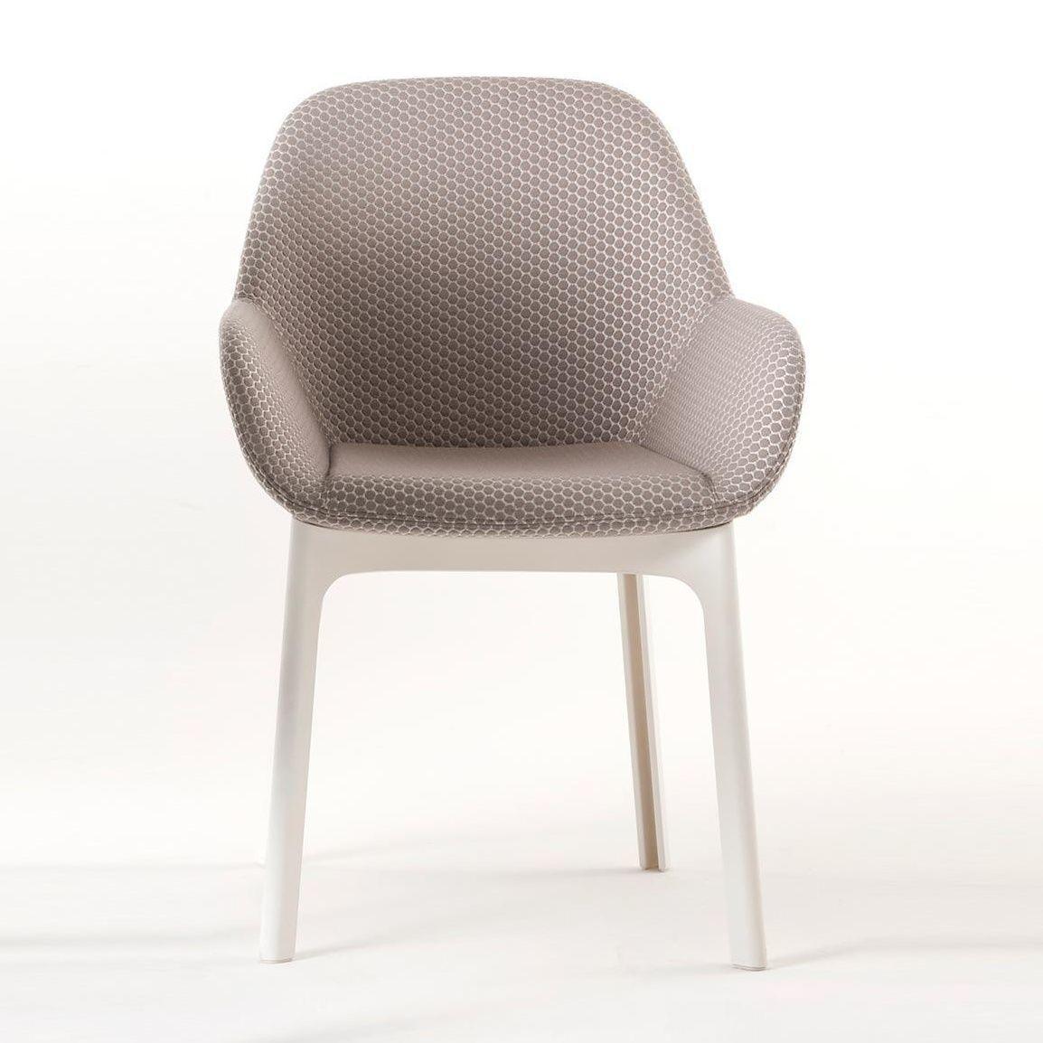 Clap armlehnstuhl stoff kartell for Armlehnstuhl grau stoff