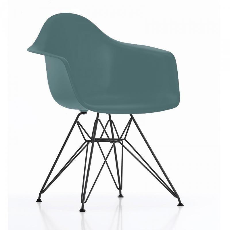 eames plastic chair dar gestell schwarz h43cm vitra. Black Bedroom Furniture Sets. Home Design Ideas