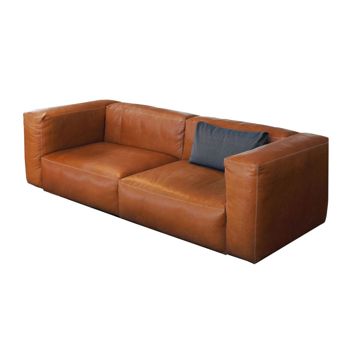 Mags Soft 2 5 Seater Leather Sofa HAY