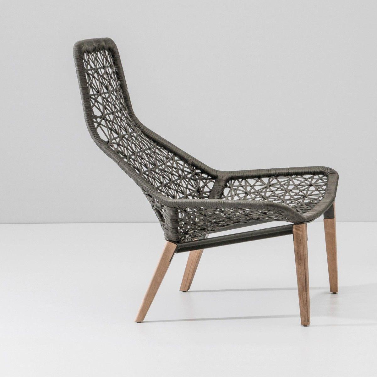 Maia relax garden armchair wooden base kettal for Kettal maia chair