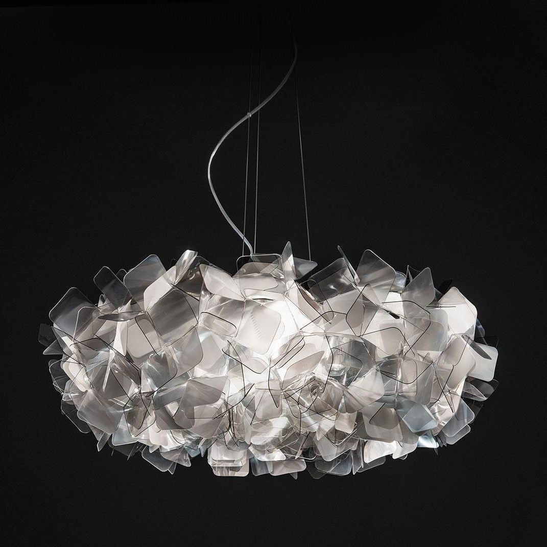 Clizia large suspension lamp slamp for Suspension 4 lampes