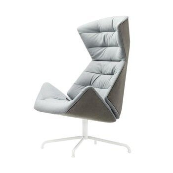 Thonet - Lounge-Sessel 808 - Under  - blaugrau grün/Stahlrohrgestell graugrün lackiert/innen: Stoff Rohi Soul 156 under/aussen: Nappaleder TL 641 lotus