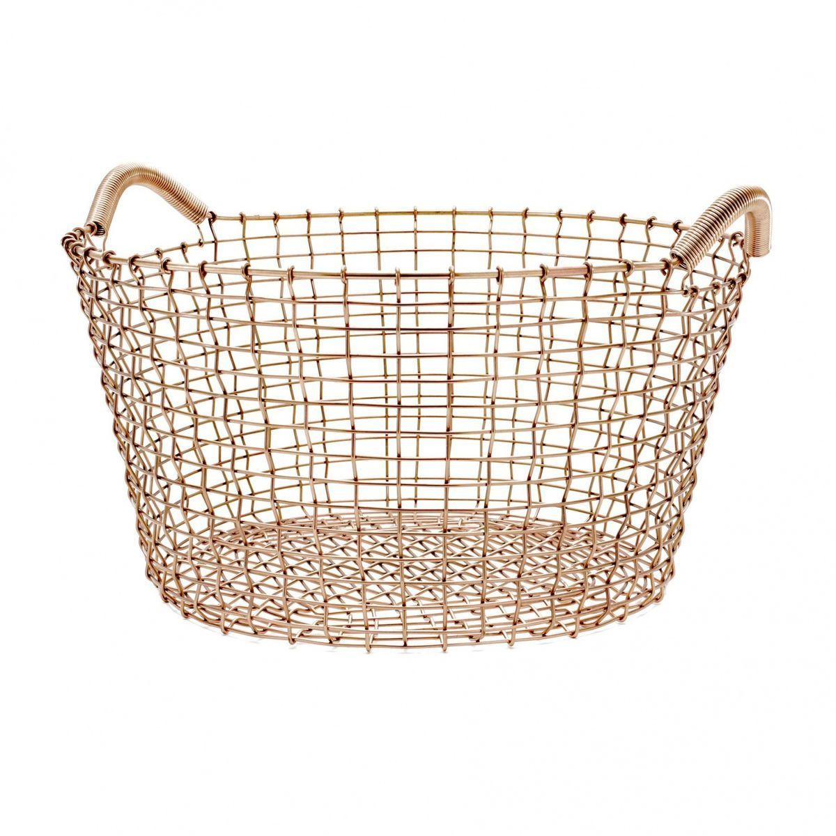 classic 35 copper wire basket korbo. Black Bedroom Furniture Sets. Home Design Ideas