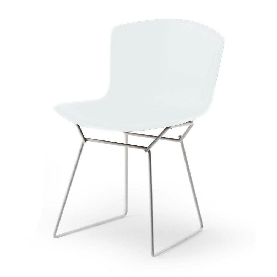 Bertoia plastic side chair chaise chrome knoll for Chaise knoll bertoia