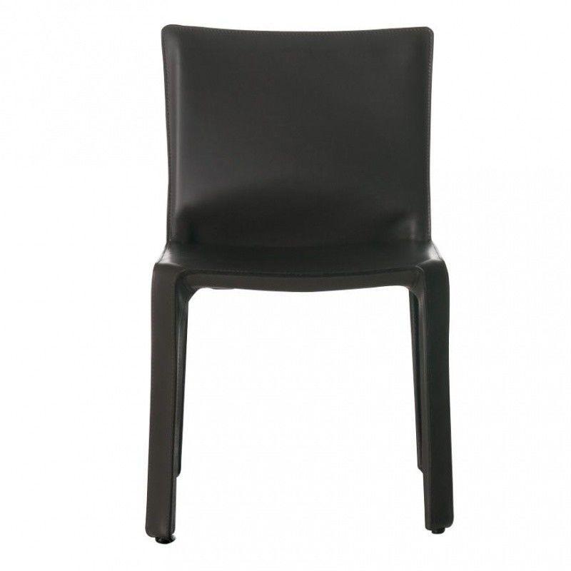 cab mario bellini chaise en cuir base cassina. Black Bedroom Furniture Sets. Home Design Ideas