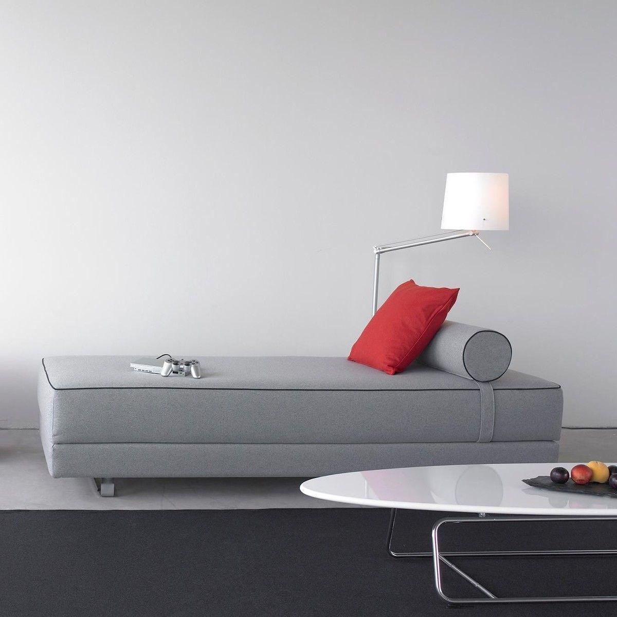 Lubi sofa bed with cold foam mattress softline for Futon schlafsofa