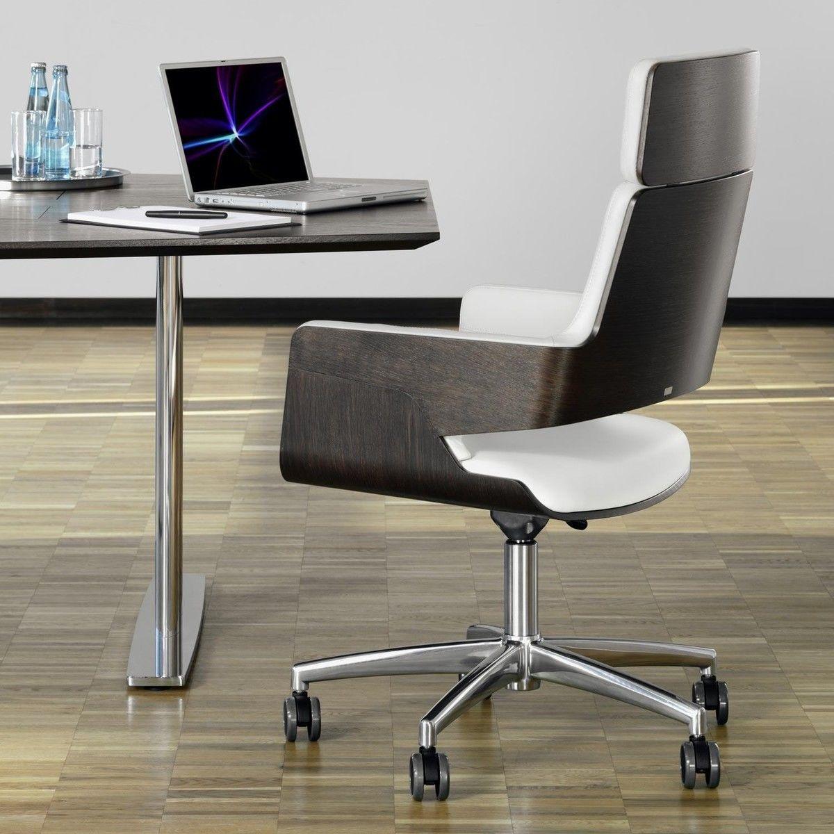 Thonet s 845 drwe chaise de bureau rouleaux thonet for Bureau rouleau