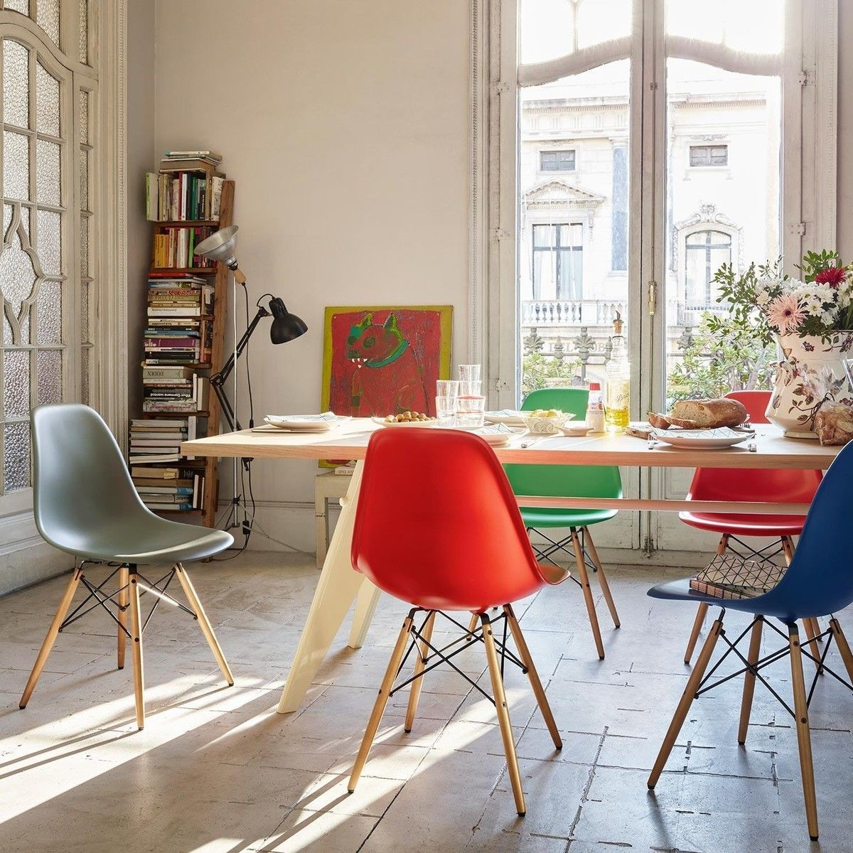 Eames plastic side chair dsw stuhl h43cm vitra for Stuhl design wettbewerb