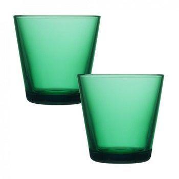 iittala - Kartio Gläser 2 Stück - smaragdgrün/21cl