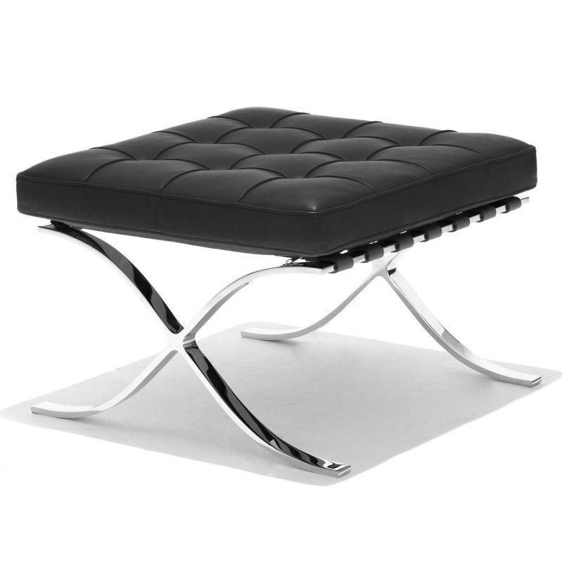 barcelona mies van der rohe hocker knoll international. Black Bedroom Furniture Sets. Home Design Ideas