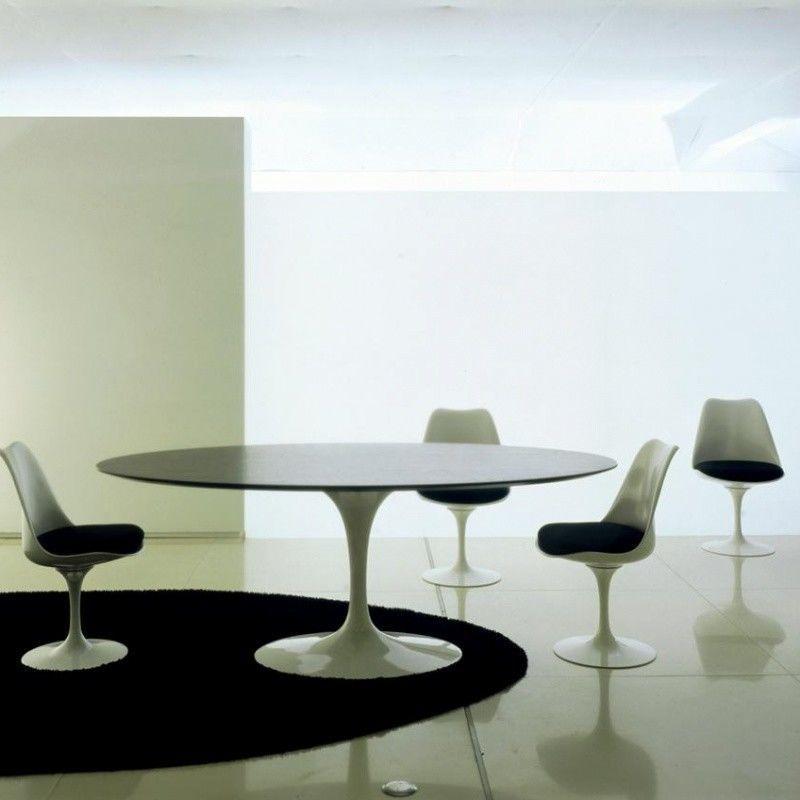 Saarinen table ovale knoll international - Table ovale design pied central ...