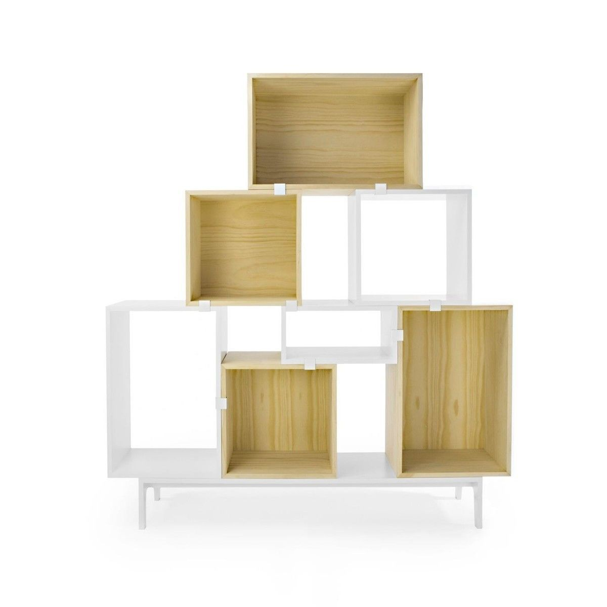 muuto stacked regal einzelf cher wei muuto. Black Bedroom Furniture Sets. Home Design Ideas