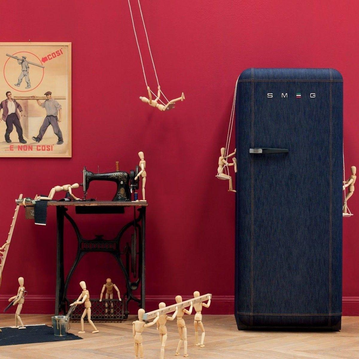 smeg fab28 jeans refrigerator smeg. Black Bedroom Furniture Sets. Home Design Ideas